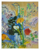Bunch of Arum Posters av Raoul Dufy