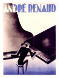 Andre Renaud Giclée-tryk af Paul Colin