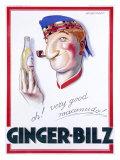 Ginger-Bilz Lámina giclée por Achille Luciano Mauzan
