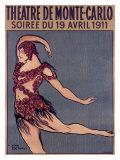 Theatre de Monte-Carlo Giclee Print by Jean Cocteau