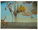 St. Antonios fristelse, ca. 1946|The Temptation of St. Anthony, c.1946 Plakat av Salvador Dalí