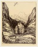 Castle Saalhof Im Pinzgau Impressão colecionável por Alfred Kubin