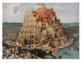バベルの塔 コレクターズプリント : ピーテル・ブリューゲル