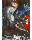 The Flying Horse Plakat af Marc Chagall