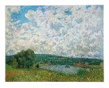 Bords de la Seine Samlertryk af Alfred Sisley