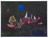 Departure of the Ships, 1927 Poster by Paul Klee