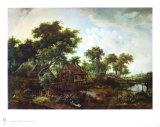 The Water Mill Lámina coleccionable por Meindert Hobbema