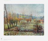 Hoarfrost Reproduction pour collectionneur par Camille Pissarro