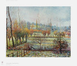 Hoarfrost Collectable Print by Camille Pissarro