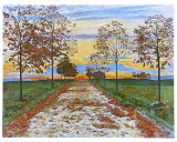 Avenue in Autumn Art by Ferdinand Hodler