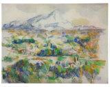 Montagne Sainte-Victoire Poster par Paul Cézanne