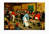 La noce au village Posters par Pieter Bruegel the Elder
