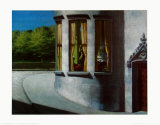 August in the City Posters af Edward Hopper