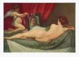 Venus Mit Cupido Samletrykk av Diego Velazquez