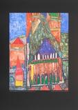 Cathedral No. I, Marrakesch Plakat av Friedensreich Hundertwasser