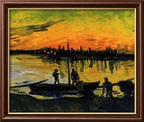 The Stevedores in Arles Innrammet Giclee-trykk av Vincent van Gogh