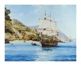 Pirates Cove Premium Giclee Print by Montague Dawson