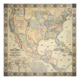 Map Of North America, 1853 Premium Giclée-tryk af Jacob Monk
