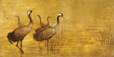 Grey Cranes Premium Giclee Print by Helene Whitwell