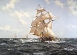 The Fleet Messenger Reproduction giclée Premium par Montague Dawson