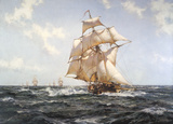 The Fleet Messenger Premium Giclee Print by Montague Dawson