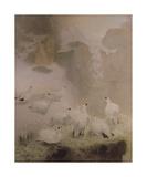 Ptarmigans in a Mountain Landscape Reproduction giclée Premium par Archibald Thorburn