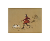 The Terrier Man Exklusivt gicléetryck av Lionel Edwards