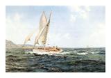 Fine Weather and a Fair Wind Reproduction giclée Premium par Montague Dawson