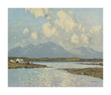 Connemara Cottages Lámina giclée prémium por Paul Henry