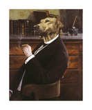 The Author Premium Giclée-tryk af Thierry Poncelet