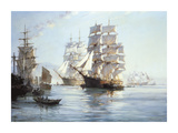 'Spindrift' Preparing To Leave Foochow Reproduction giclée Premium par Montague Dawson