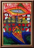 Das Auge und der Bart Gottes Kunstdrucke von Friedensreich Hundertwasser