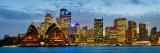 Opera House Lit Up at Dusk, Sydney Opera House, Sydney Harbor, New South Wales, Australia Fotografisk trykk av Panoramic Images,