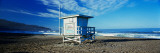 Lifeguard Hut on the Beach, Torrance Beach, Torrance, Los Angeles County, California, USA Fotografie-Druck von  Panoramic Images