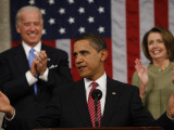 President Barack Obama Acknowledges Applause before His Address to a Joint Session of Congress Photographic Print