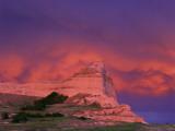 Stormy Light on Scottsbluff National Monument, Nebraska, USA Photographic Print by Chuck Haney