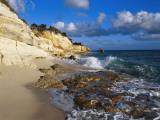 Cliffs at Cupecoy Beach, St. Martin, Caribbean Fotografisk trykk av Greg Johnston