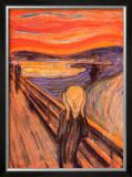 O Grito, cerca de 1893 Posters por Edvard Munch