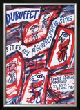 Sites aux Figurines Psycho-Sites Arte por Jean Dubuffet