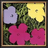 Flowers, c.1970 (1 Purple, c.1 Yellow, 2 Pink) Art by Andy Warhol
