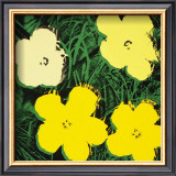 Flowers, c.1970 (Yellow) Art by Andy Warhol