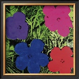 Flowers (Purple, Blue, Pink, Red) Prints by Andy Warhol