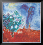 Die Liebenden Uber St Paul, c.1971 Prints by Marc Chagall
