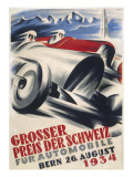 A Striking Poster for the Grand Prix of Switzerland Held at Bern Giclée-tryk
