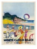 Advertisement Promoting Monte Carlo Beach Lámina giclée