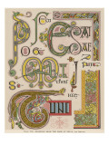 Book of Kells Illuminating Examples Giclee Print