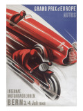 A Poster for the Grand Prix D'Europe to Be Held at Bern on 3/4th July 1948 Giclée-tryk