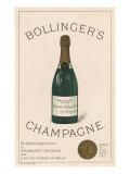 Bollinger's Champagne Lámina giclée