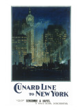 Cunard New York Poster Giclee Print
