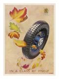 Dunlop Tyres - in a Class by Itself Giclée-Druck